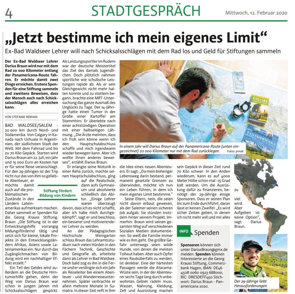 Südfinder Zeitung Darius Braun